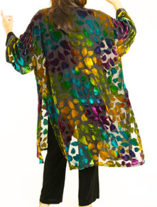 Plus Size Special Occasion Jacket Silk Velvet Burnout Purple Turquoise Teal