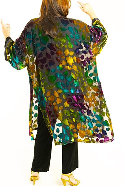 Plus Size Special Occasion Jacket Silk Velvet Burnout Purple Turquoise Teal