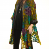 Plus Size Special Occasion Jacket Silk Velvet Purple Turquoise Teal
