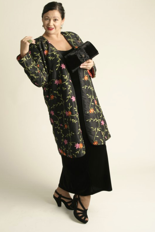 Special Occasion Coat Embroidered Beaded Black Pink Tangerine Sizes 14 - 32