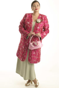 Mother Bride Formal Coat Beaded Embroidered Fuchsia Green Sizes 14 - 32