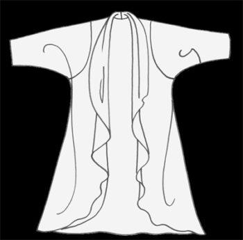 Plus Size Designer Drape Coat Paisley Silk Velvet Ginger Navy