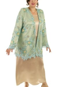 Plus Size Mother of Bride Jacket Beaded Lace Jade Aqua Champagne