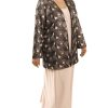 Plus Size Mother of Bride Jacket Beaded Openwork Pink Black