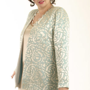 Mother of Bride Formal Jacket Silk Aqua Sage Champagne Sizes 14 – 32