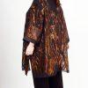 Plus Size Occasion Kimono Jacket Floral Burnout Copper Brown 22-32