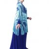 Mother of Bride Formal Kimono Jacket Silk Ocean Blue Burnout Sizes 14 - 28