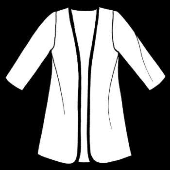 Plus Size Reversible Coat Velvet Floral Embroidered Black White Red