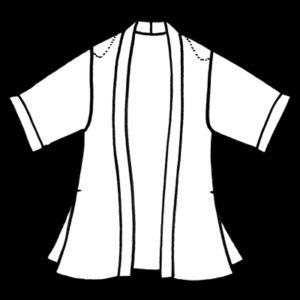Plus Size Special Occasion Kimono Jacket Rayon Print Plum Taupe