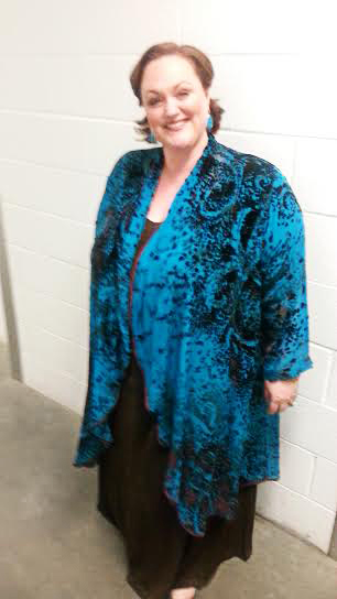 Plus Size Special Occasion Coat Paisley Silk Velvet Turquoise Chocolate