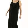 Plus Size Sheath Slip Dress Lycra Velvet Black Gold Sparkles 14 - 36
