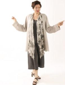 Plus Size Mother of Bride Drape Jacket Silver White Black