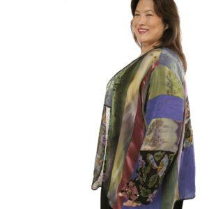 Special Occasion Beaded Jacket Green, Rose, Purple Artwear Size 30/32