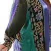 Special Occasion Jacket Sequins Artwear Turquoise Teal Purple Size 30/32