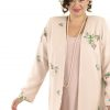 Alternative Bridal Formal Custom Jacket Wildflowers Embroidered Beaded Silk Pink Sizes 14 - 32