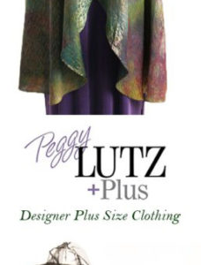 Plus Size Drape Lapel Coat Rainbow Silk TallPin