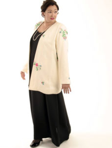 Custom Mother Bride Jacket Embroidered Beaded Floral Silk Ivory Brights Sizes 14 - 32