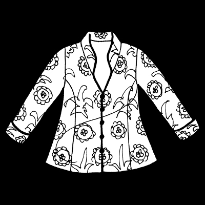 Plus Size Occasion Mandarin Jacket Floral Embroidery Black Brights