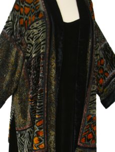Plus Size Mother of Bride Kimono Jacket Silk Velvet Burnout Animalskins