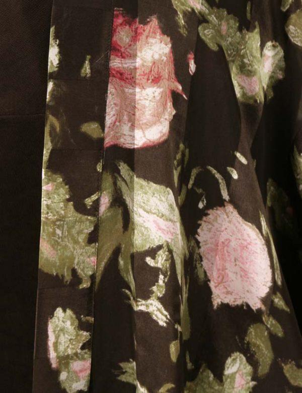 Plus Size Mother of Bride Kimono Coat Silk Roses Chocolate Pink