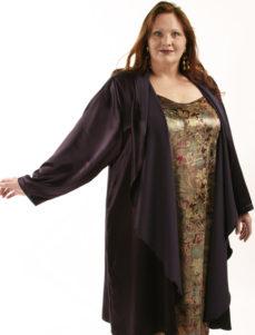 Slip Dress Antique Paisley Panne Velvet (Plus-Size)