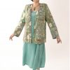 Plus Size Designer Jacket Coco Rainforest Beaded Baby Cheetah Gold Green Teal__63843.jpg