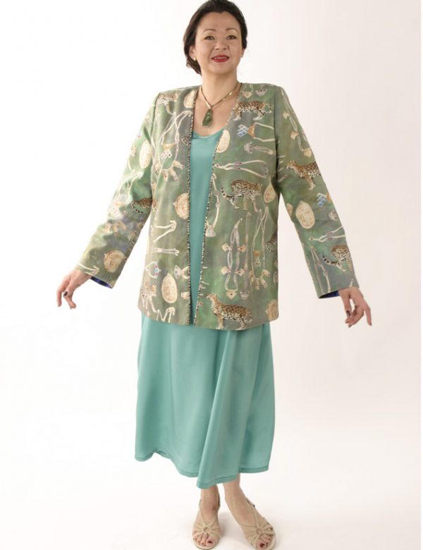 Plus Size Designer Jacket Coco Rainforest Beaded Baby Cheetah Gold Green Teal__63843.jpg