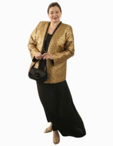 Coco Jacket in La Croix Gold Brocade (Plus-Size)