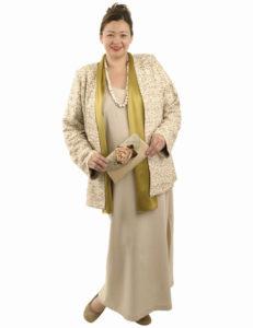 beige jacket gold sequins