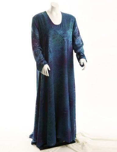 Curved Dress Blue Etched Burnout (Plus-Size)