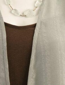 Daisy Jacket Sage Sandwashed Rayon (Plus-Size)