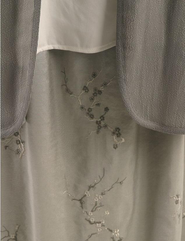 Daisy Jacket Gray Lizard Sandwashed Rayon (Plus-Size)