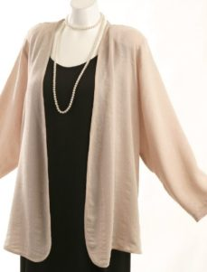 Daisy Jacket Pale Pink Embossed Rayon (Plus-Size)