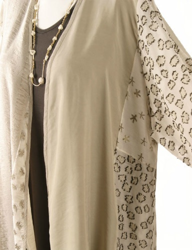 Plus Size Mother of Bride Daisy Jacket Ivory Champagne Gold Sizes 18 – 32