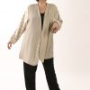 Plus Size Mother of Bride Daisy Jacket Ivory Champagne Gold Sizes 18 - 32