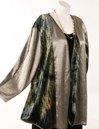 Plus Size Mother of Bride Jacket Artwear Champagne Teal Black Gold