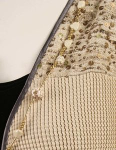 Plus Size Mother of Bride Daisy Jacket Sequins Natural Taupe
