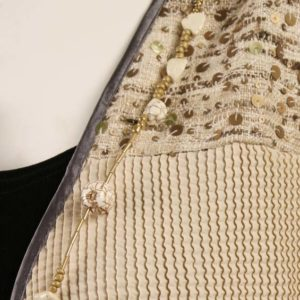 Mother of Bride Daisy Jacket Sequins Gold Natural Taupe Size 26/28