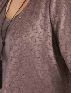 Dragon Lady Coat Deep Dusty Rose Mesh with Swarovski Crystals Mesh (Plus-Size)