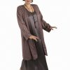 Plus Size Mother of Bride Formal Coat Swarovski Crystals Mauve