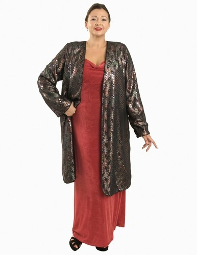 Dragon Lady Coat in Veiled Serpent (Plus-Size)