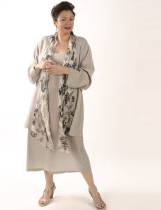 Drape Lapel Jacket Black/White/Silver Leaf (Plus-Size)