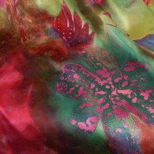 Fingertip Bolero in Carnivale Silk Georgette (Plus-Size)