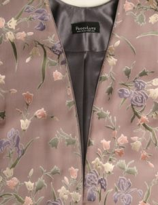 Plus Size Mother of Bride Jacket Floral Silk Rose Lilac