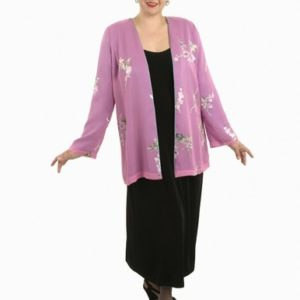 Alternative Bridal Dressy Wedding Jacket Floral Silk Burnout Pink Sizes 14 – 32