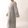 Plus Size Special Occasion Formal Coat Sequin Lace Silver
