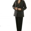 Designer Mandarin Jacket Lined Gray Wool Custom Made Sizes 14 - 30