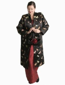 Princess Kimono Jacket Butterflies Silk Jacquard (Plus-Size)