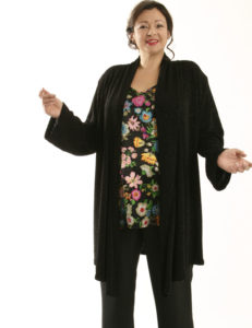 Scarf Jacket Black Filigree (Plus-Size)