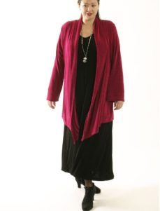 Scarf Jacket Cerise Slither (Plus-Size)